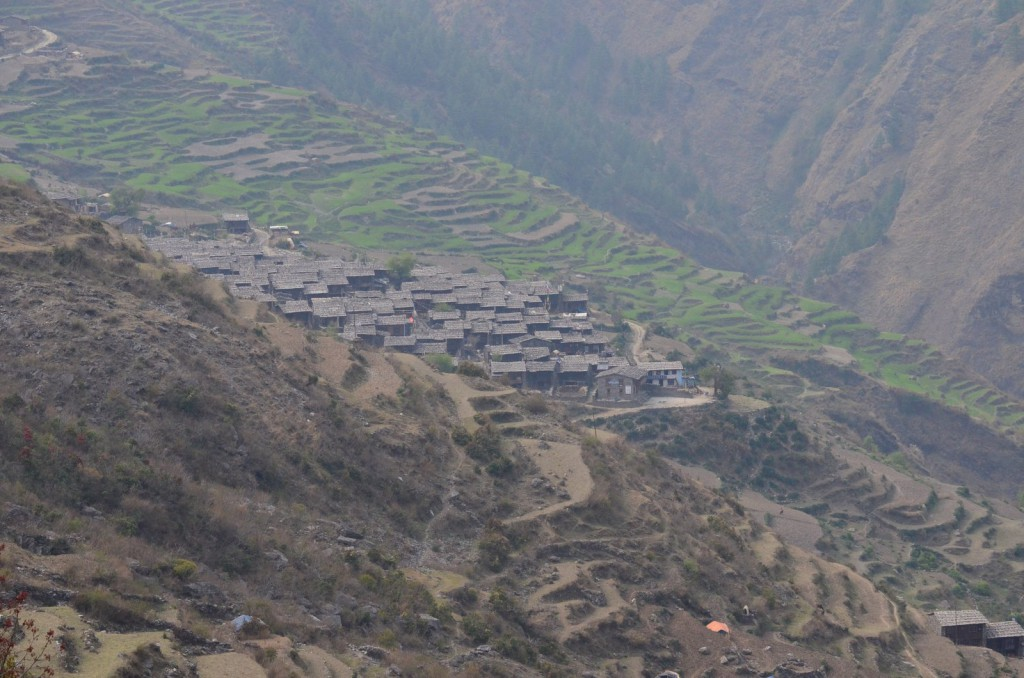Approaching Gatlang village