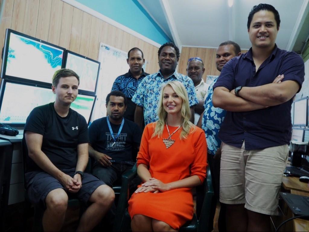 Ilmatieteenlaitokset asiantuntijat Salomonsaarten sääpäivystyksessä